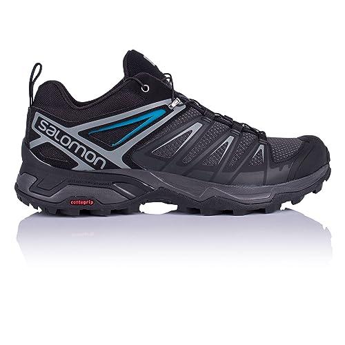 Salomon X Ultra 3 Hiking Boots Mens, PhantomBlackHawaiian Surf, 14 US, L40286200 14