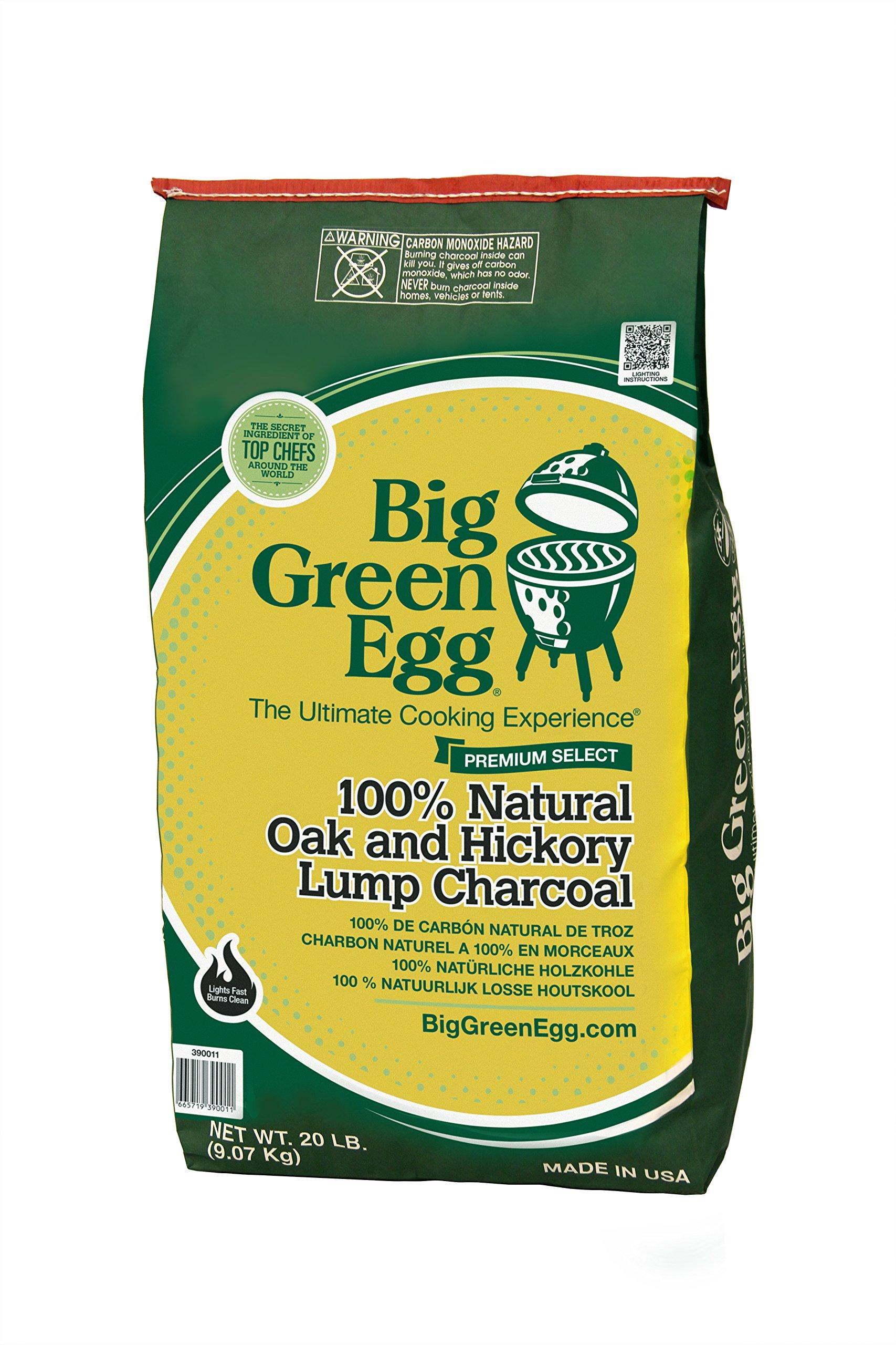 BIG CP 20-pound bag of natural lump charcoal by Big Green Egg