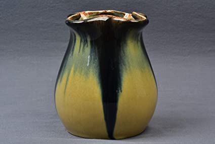 Amazon Muncie Pottery 1929 Blue Peachskin Pulled Corner Vase