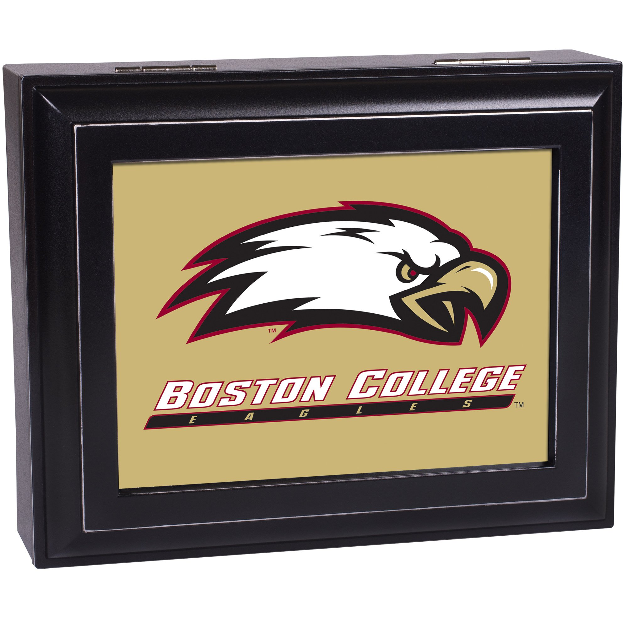 Cottage Garden Boston College Black Digital Fight Song Music Box/Valet Watch Box Plays School Fight Song