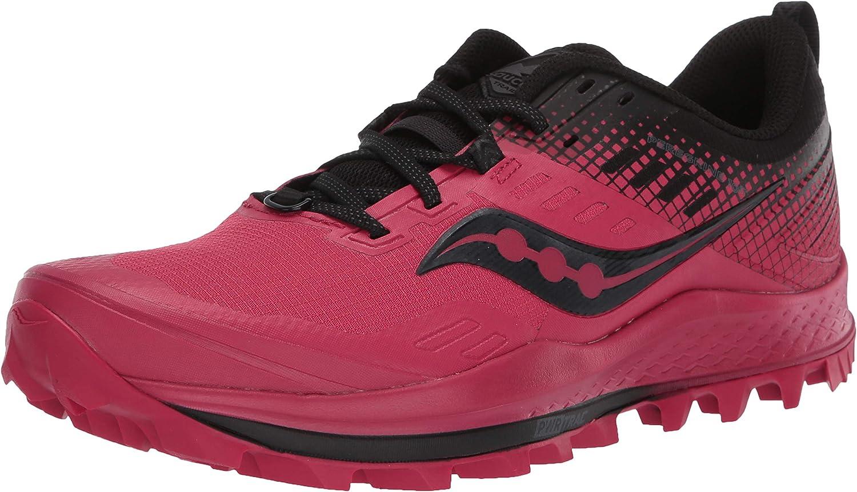 Saucony Damen Peregrine 10 Black//Barberry Leichtathletik-Schuh