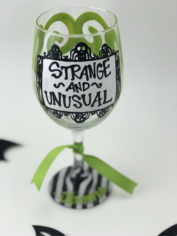 Strange Wine Glasses. Happy Half Wine Glass. Strange Wine Glasses ...
