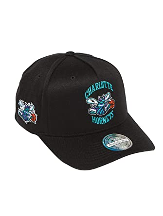 be64a51c174 Mitchell   Ness Men Snapback Caps NBA HWC Eazy 110 Curved Charlotte Hornets  Black Adjustable