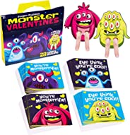 Red Robin Greetings; Valentine's Day Cards For Kids; Monster Finger Puppet Valentines Cards For Class (28-Count With Envelop
