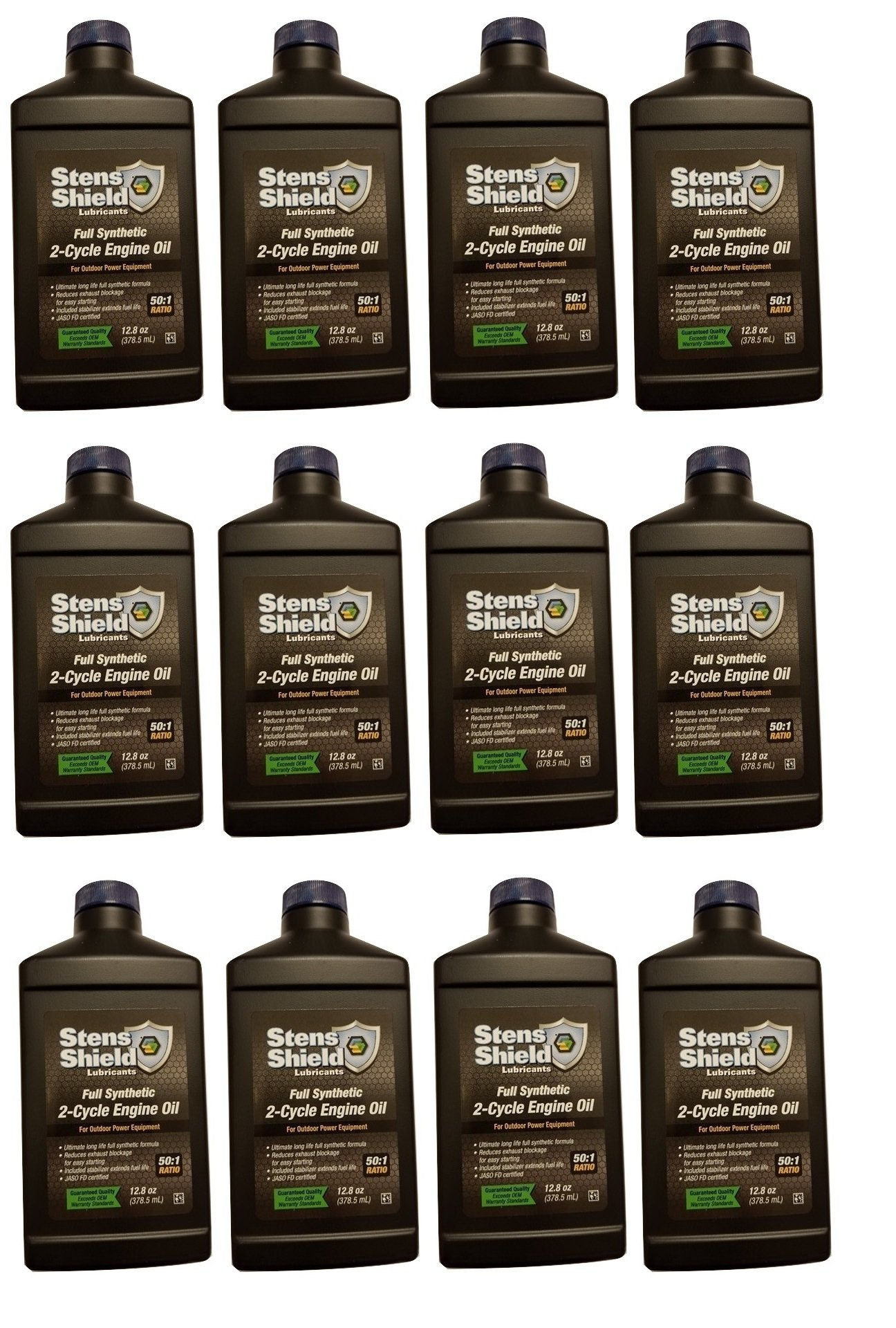 Stens 770 128 50:1 Full Synthetic 2-Cycle Engine Oil Mix 12.8 fl oz (12 Pack)