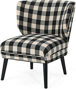 Modern Formal Living Room, Amazon Com Christopher Knight Home Roger Modern Farmhouse Accent Chair Black Checkerboard Teal Tweed Furniture Decor