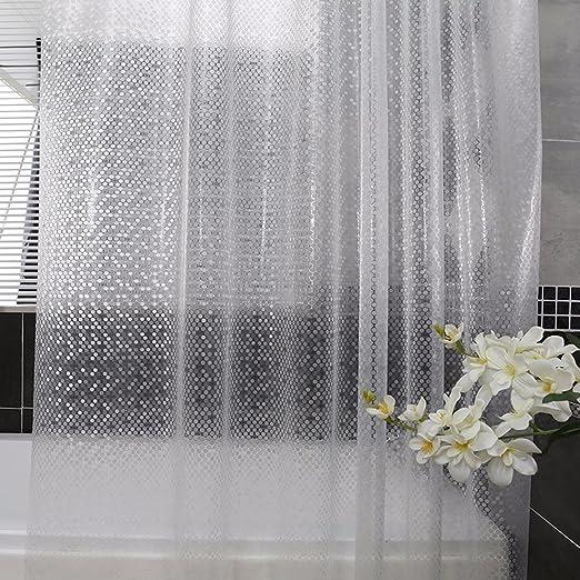 QPGGP-Cortina para ducha Cortina De Baño Con Inodoro Impermeable A Prueba De Moho Engrosamiento Cuarto