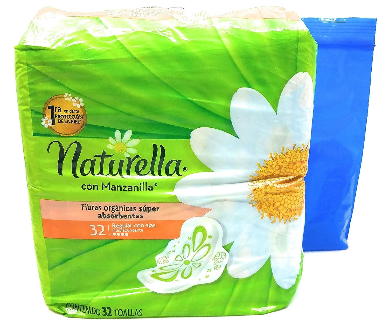 Amazon.com: Naturella con Manzanilla Toallas, 32 Count and Tesadorz Resealable Bags: Health & Personal Care