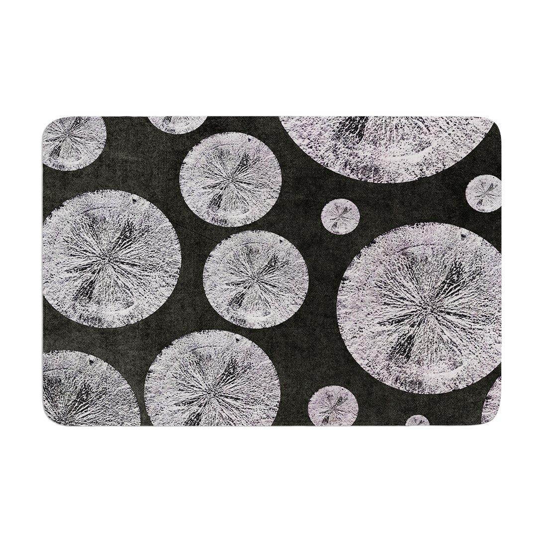 17 by 24 Kess InHouse Iris Lehnhardt Pyrite Black Grey Memory Foam Bath Mat