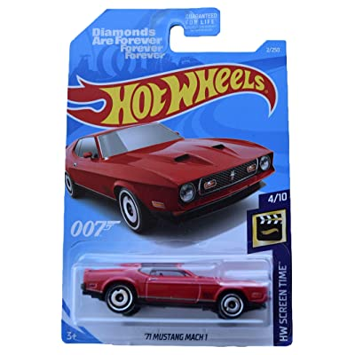 Hot Wheels '71 Mustang Mach 1 2/250, red: Toys & Games