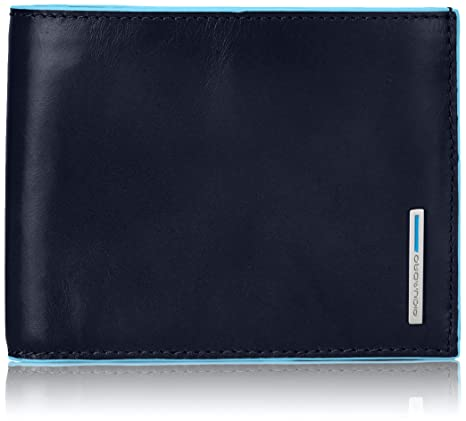 6054dcacf8 Piquadro PU1240B2/BLU2 Blue Square Portafoglio, Blu, 12 cm: Amazon ...