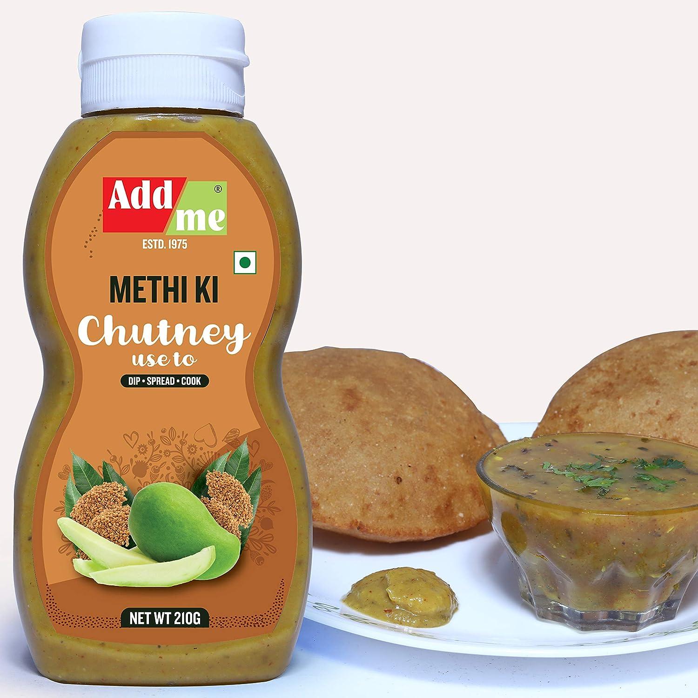 Add me Home Made Dana Methi achar Chutneys , 210gm Methi ki Chutney Pickle 210 G