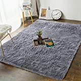 Andecor Soft Fluffy Bedroom Rugs - 4 x 6 Feet Indoor Shaggy Plush Area Rug for Boys Girls Kids Baby College Dorm Living…