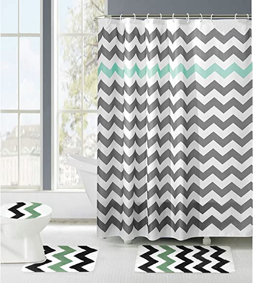 Aruba Seashell  Fabric shower curtain *shower hooks included Water Repellent