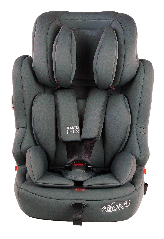 Asalvo - Silla de coche grupo 123 Master Fix, Color gris