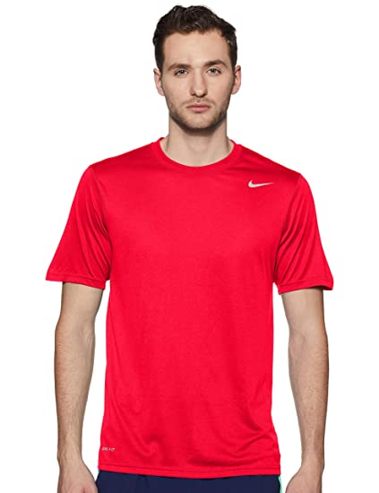 Frontera salud Nunca  Nike Dri-Fit Polyester Running T-Shirt, Men's Medium (Red): Amazon.in:  Sports, Fitness & Outdoors
