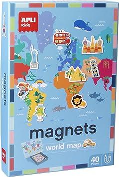 Oferta amazon: APLI Kids- Mapamundi Juego Magnético, Multicolor (16494)