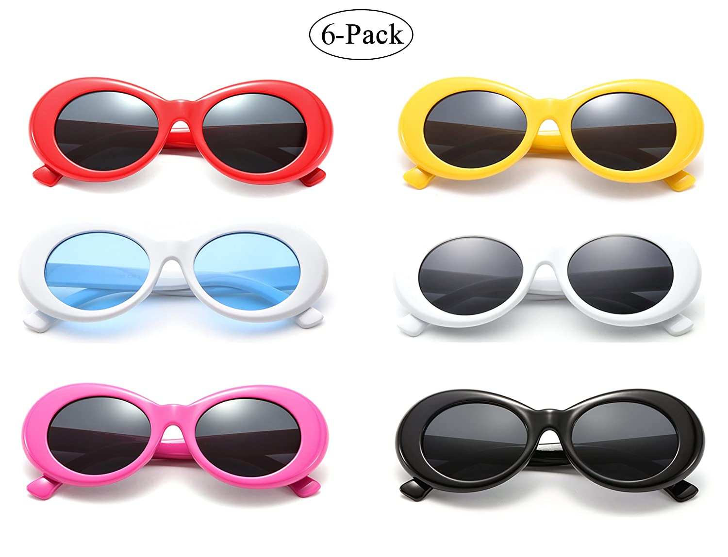 898d071418 Retro oval sunglasses pack thick frame clout goggles kurt cobain vintage  cool jpg 1500x1148 Clout goggles