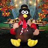 Amazon Price History for:6 Foot Thanksgiving Inflatable Turkey, YUNLIGHTS Lighted Air Blown Inflatable Turkey with Pilgrim Hat Perfect Thanksgiving Autumn Decorations