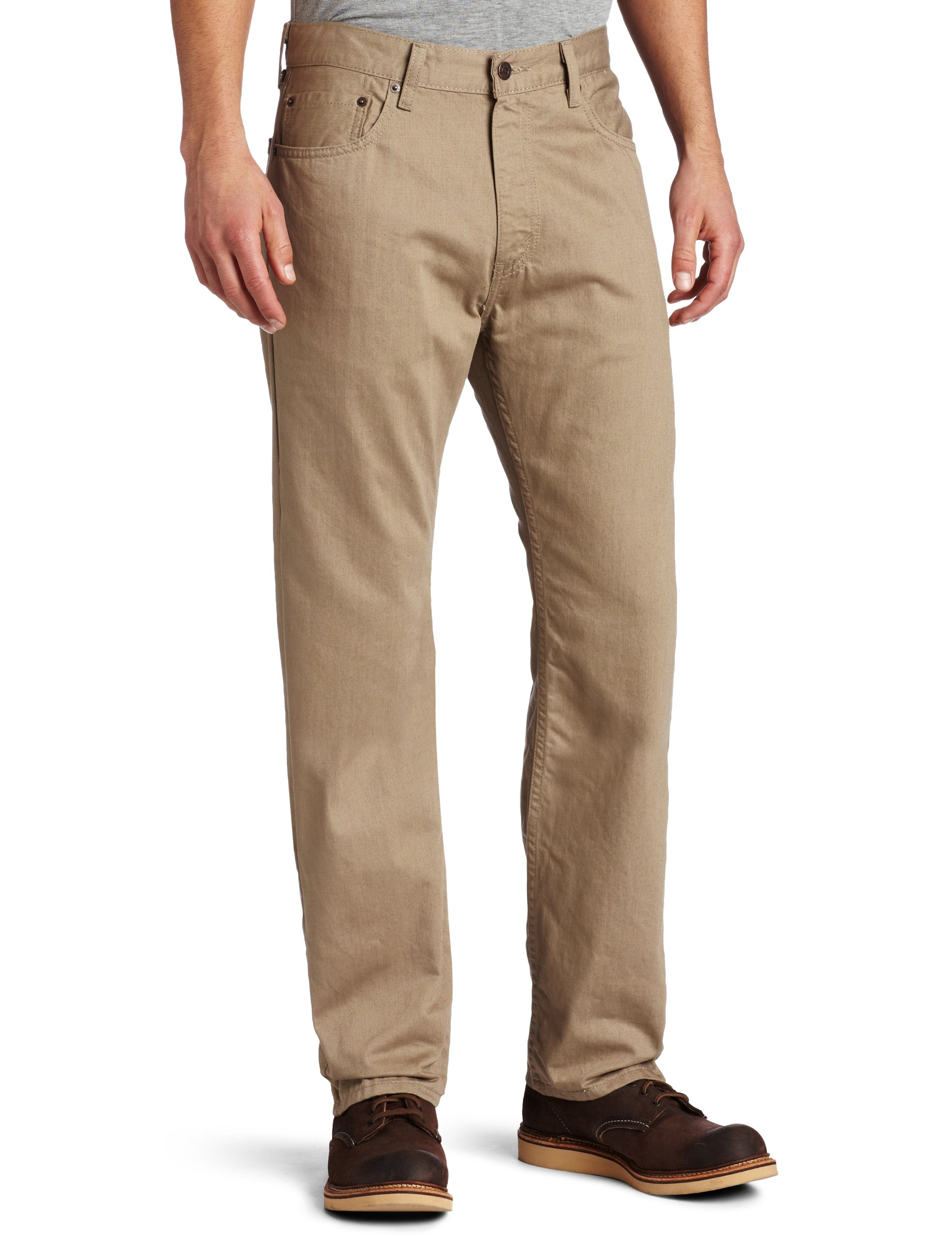 Levi's Men's 505 Regular Fit Twill Pant, Timberwolf, 36x32