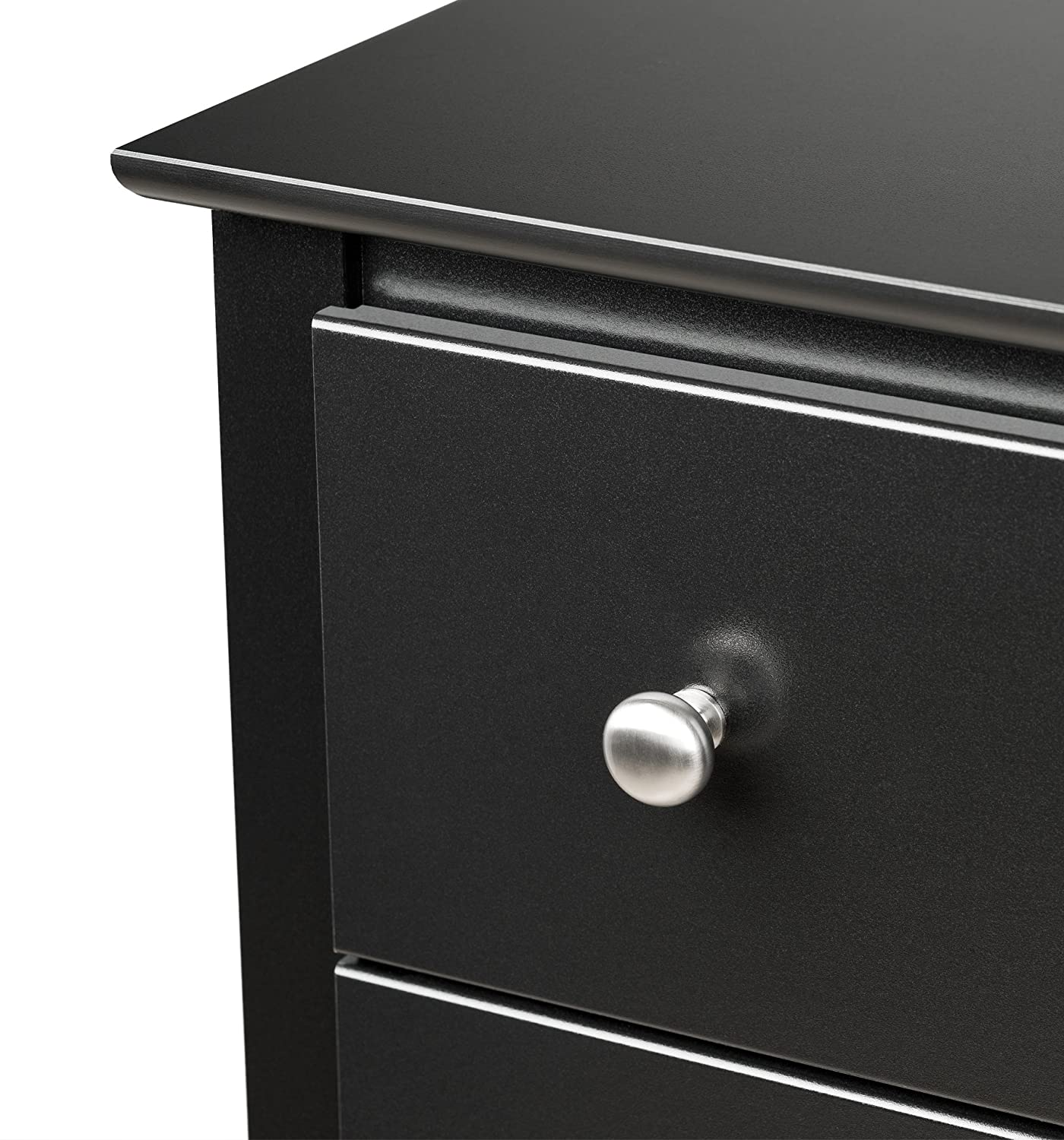 Amazon.com: Prepac Sonoma Tall 2 Drawer Nightstand, Black: Kitchen U0026 Dining
