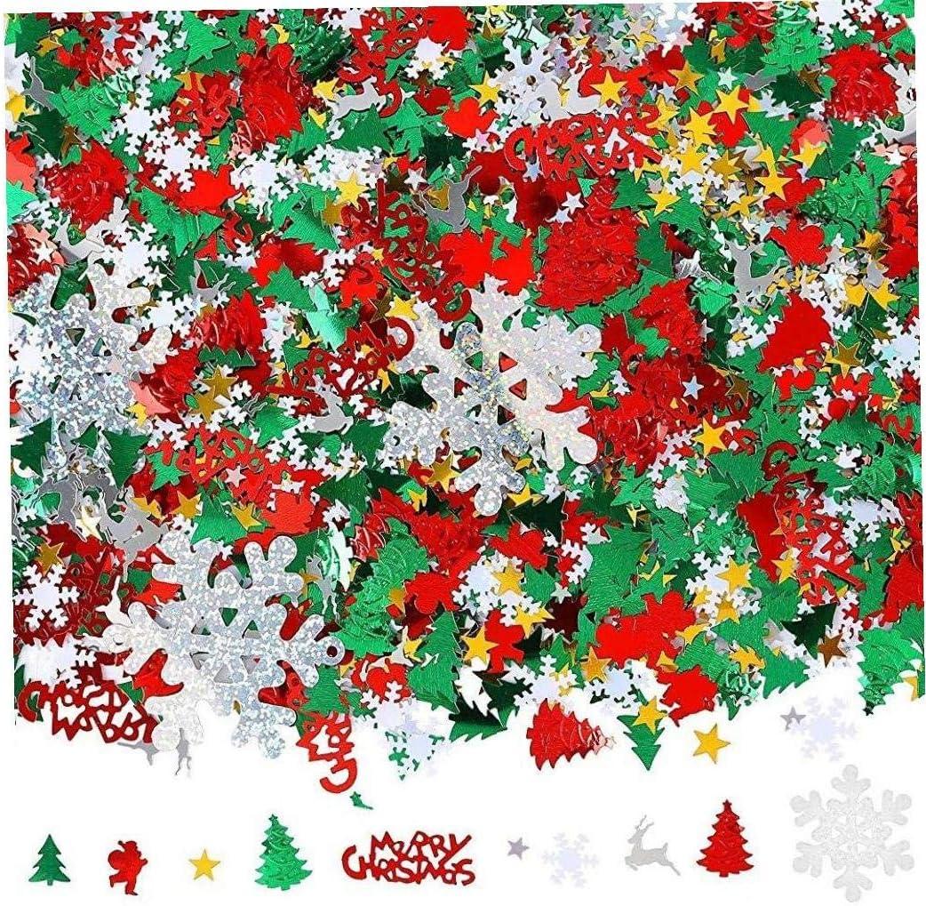 Buty Tabla de Navidad Confeti Pentagram Feliz ChristmasAlphabet Confeti Reno Tabla Confeti para la decoraci/ón de Navidad