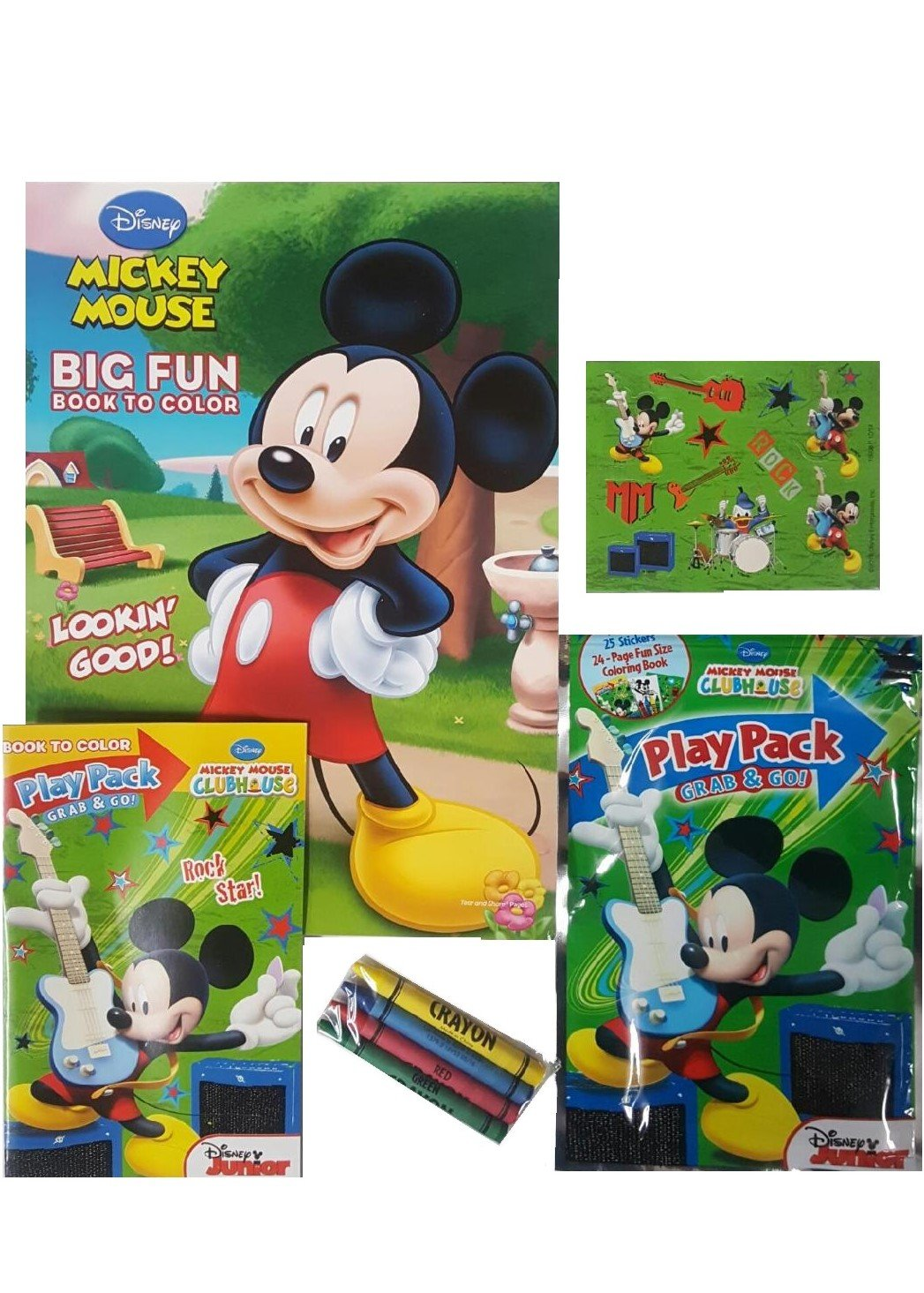Amazon.com: Mickey Mouse Coloring and Activity Book Set - 1 Jumbo ...
