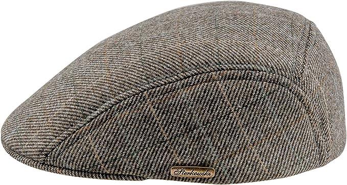 Warm Wool Blend Petersham Ivy League Flat Cap with Earflap US 7 Charcoal