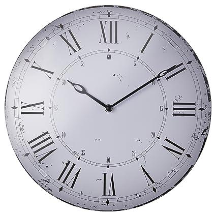 Ikea Reloj de pared bitnik metal Shabby Chic