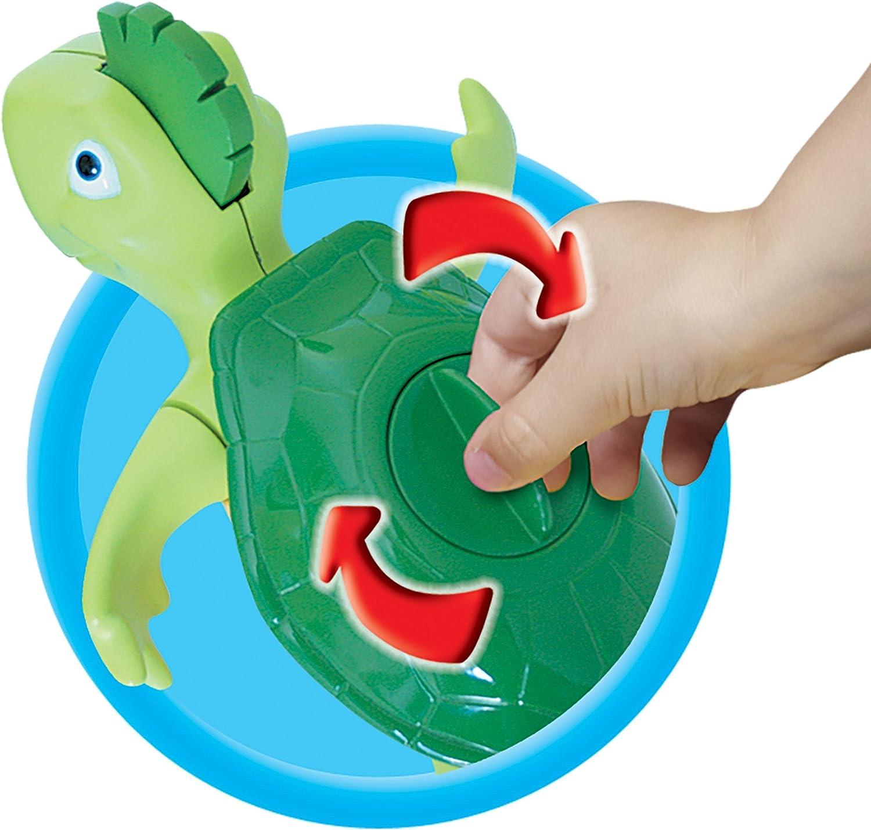 vereint Badespielzeug und Musikspielzeug TOMY Wasserspiel f/ür Kinder Plantschi die singende Schildkr/öte mehrfarbig hochwertiges Babyspielzeug mit Musik ab 12 Monate