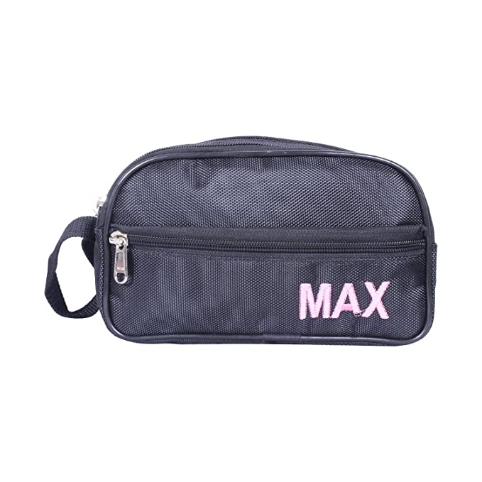 PSH Multipurpose Black Shaving Pouch Toiletry Kit Travel Organiser with 4 Compartment Waist Bags