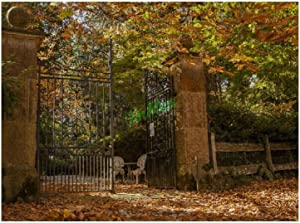 yyone 300 Pieces Jigsaw Puzzles Garden Gate Gare Trees Nature Fall Leaves Fun Puzzle Educational Family Game Toys Gift for Adults Teens