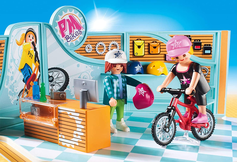 PLAYMOBIL- Tienda de Bicicletas y Skate Juguete, Multicolor ...