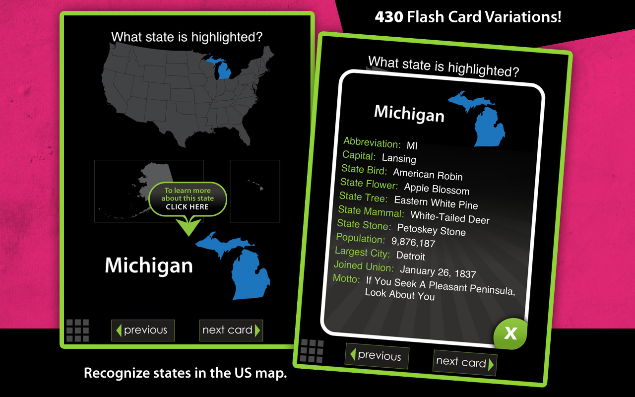 Amazoncom Flash Cards United States Appstore For Android - Us map with states and capitals and abbreviations