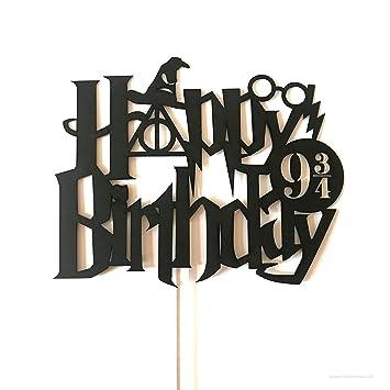LEOANDMENA Harry Potter Inspired Cake Topper Happy Birthday ...