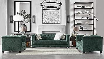 Amazon.com: Acanva Luxury Vintage Tufted Velvet Living Room ...