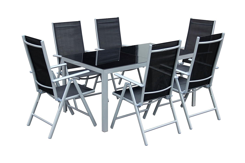 7teiliges Gartenmöbel Set Gartengarnitur Set GM7 Black online