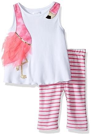 11929b56af06 Amazon.com  Mud Pie Baby Girls  Two Piece Pants Set Sleeveless ...