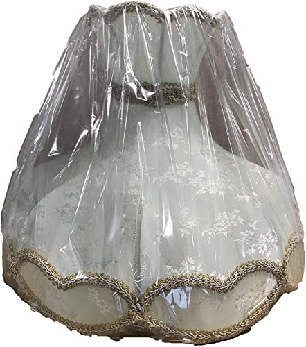 22 Scallop Shaped Lamp Shade, Silk with Beads Fringes by Imperial Gift Co