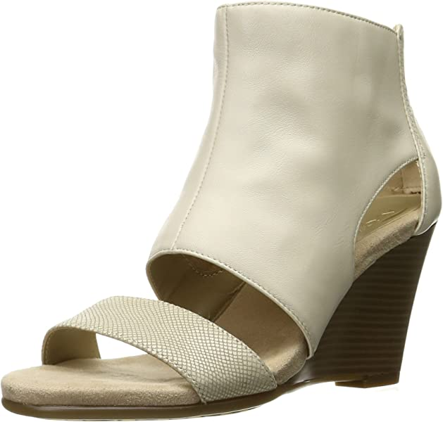faa16ff073245 aerosoles heel rest wedges Aerosoles Women s HIGH Gloss Wedge Sandal Bone  Leather .
