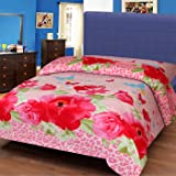 IWS 3D Printed 160 TC Polycotton Single Bedsheet - Multicolor