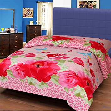 bc95b9307d7 IWS 3D Printed 160 TC Polycotton Single Bedsheet - Multicolor  Amazon.in   Home   Kitchen