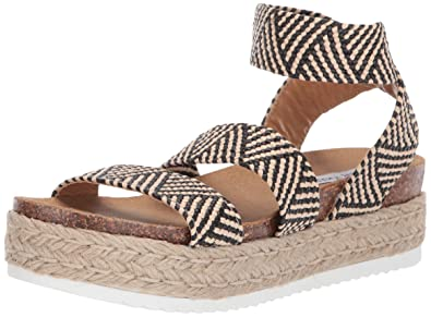 882b78701d2 Steve Madden Women s Kimmie Wedge Sandal Black Multi 10 M US