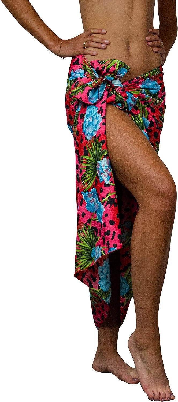 King Kameha Hawaii Sarong Pareo da spiaggia da donna Funky casual bikini Cover Up spiaggia costume da bagno Leopardo fiori stampa