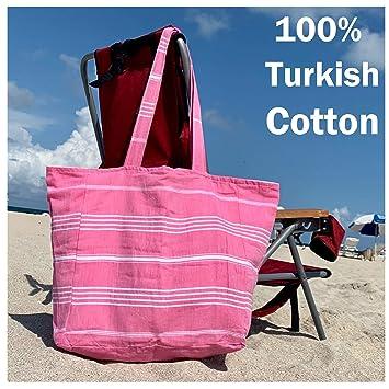 Amazon.com: Aysesa Toalla de playa turca con bolsillo con ...