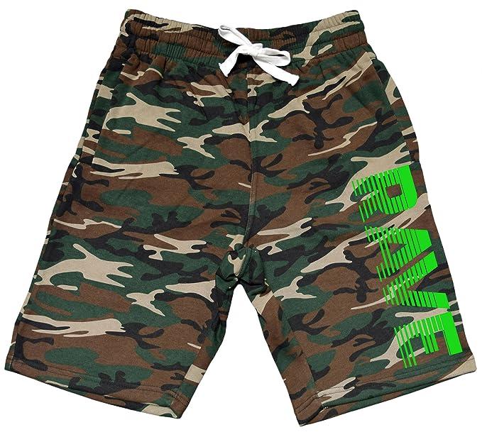 a1d40531f5a11 Men's Rave Fade Lines V367 Camo Fleece Jogger Sweatpant Gym Shorts Small  Black