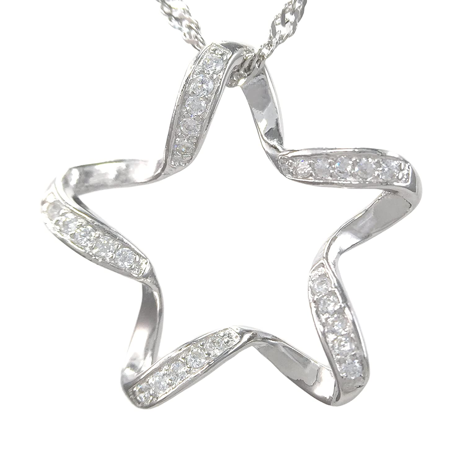 Make a Wish Lucky Star Sterling Silver Pendant Necklace