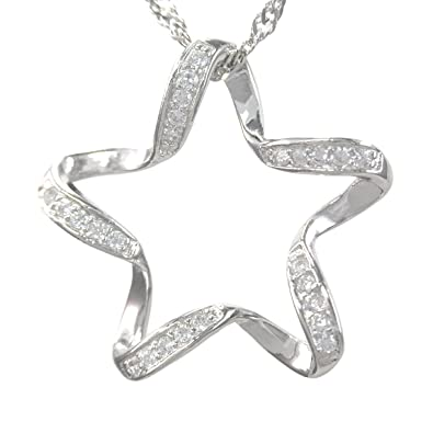 Amazon make a wish lucky star sterling silver pendant necklace make a wish lucky star sterling silver pendant necklace mozeypictures Images