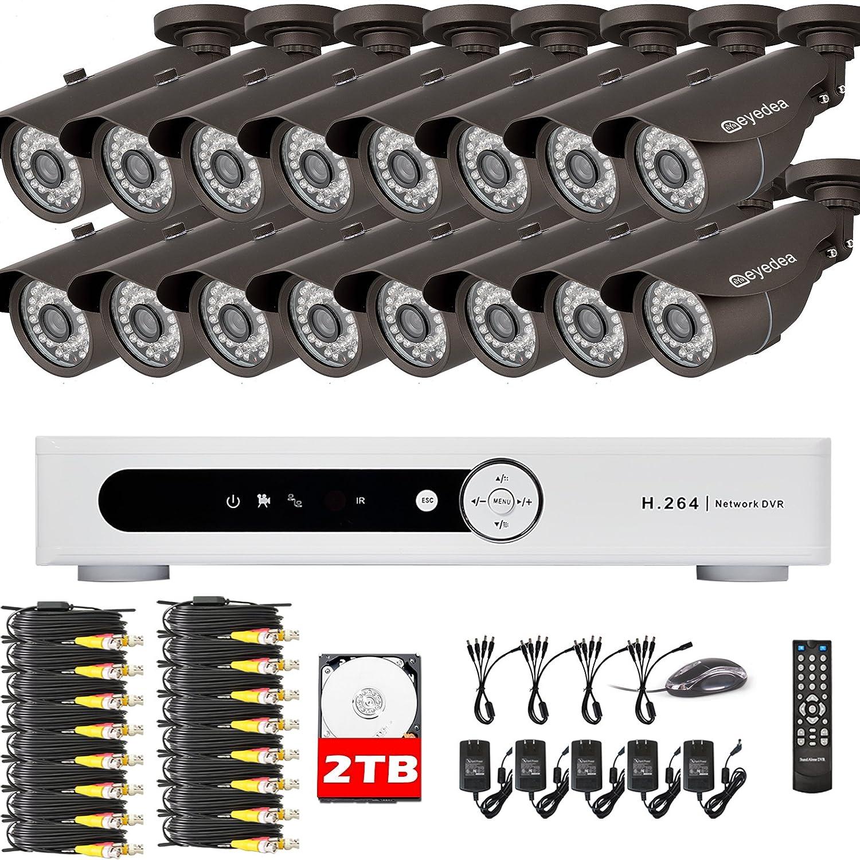Amazon.com : Eyedea Brand 3500TVL 16CH Channel 1080N DVR ...