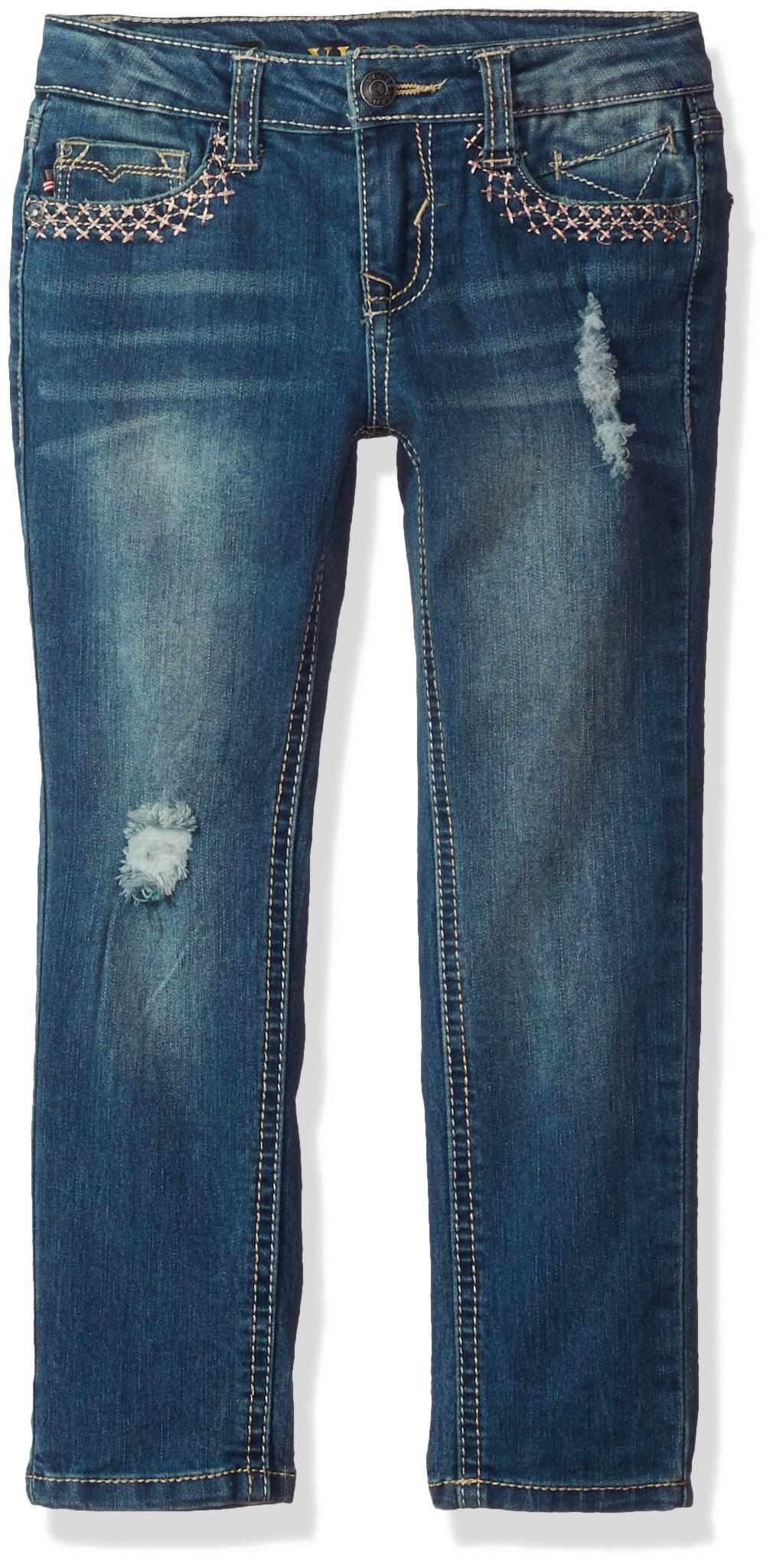 VIGOSS Girls' Big Back Pocket Jean, City Blue, 10